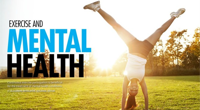 Role of exercise in mental health