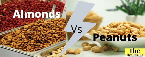 Almonds and peanuts